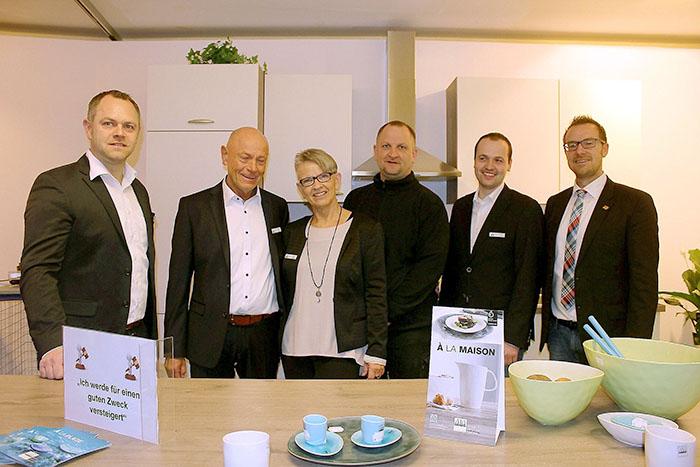 Messe Sontra von links Marcus Persch, Peter Persch, Barbara Persch, Alexander Persch, Marco Haukwitz und Thomas Eckhardt